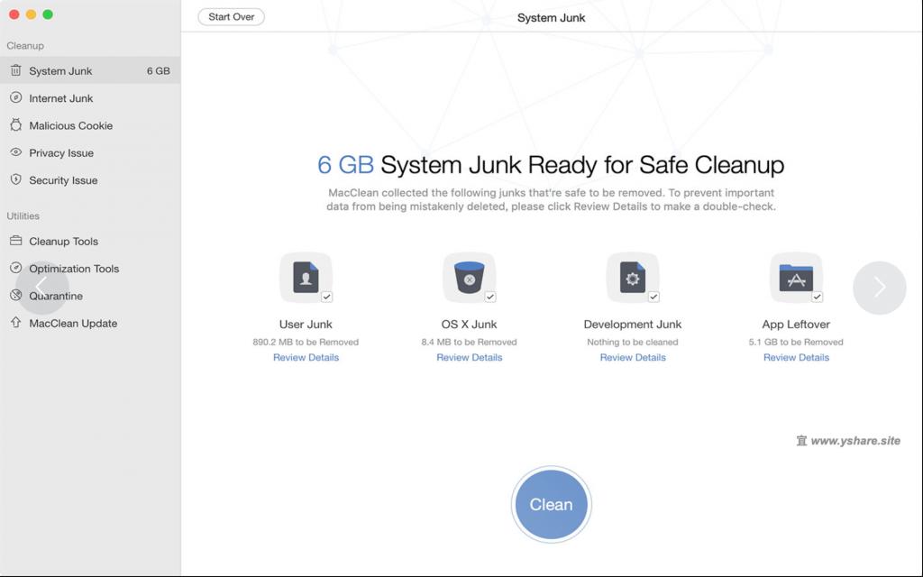 MacClean for Mac V3.5.0 破解版 (清爽的系统清理工具)