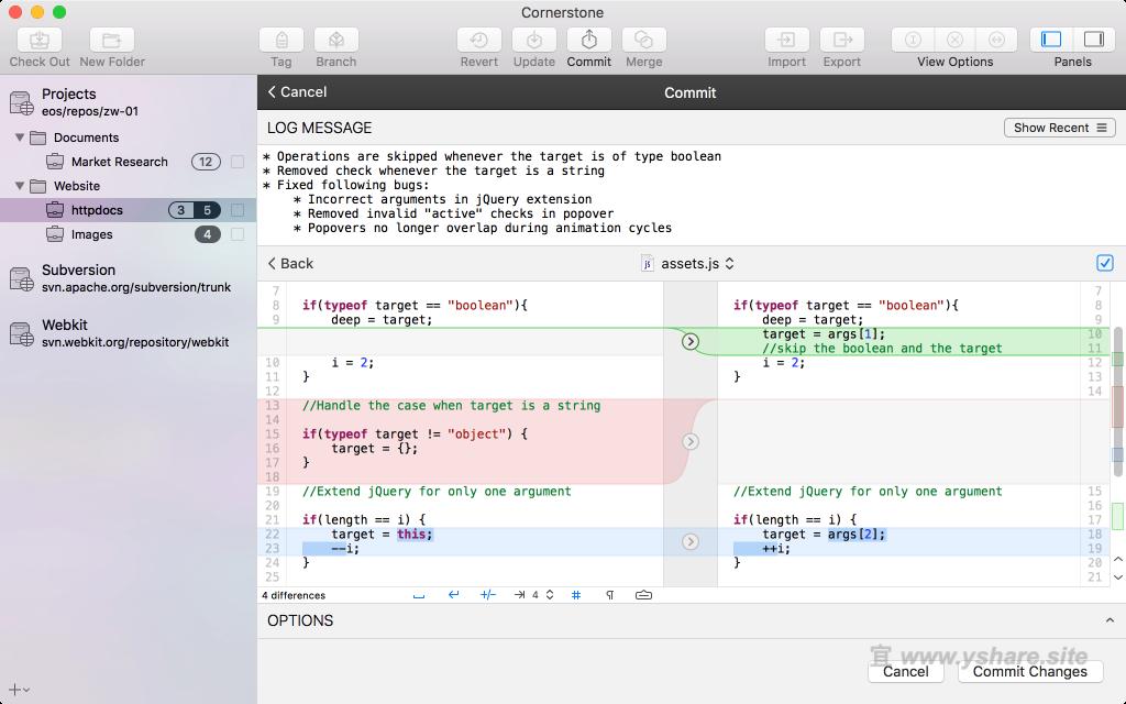Cornerstone4 for Mac V4.1 破解版 (最好用的SVN客户端)